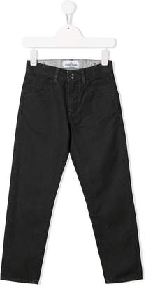 Stone Island Junior washed canvas trousers