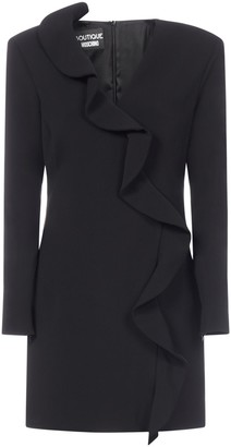 Boutique Moschino Ruffled Long-Sleeve Dress