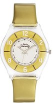 Miss Trendy Girl's Quartz Watch with White Dial Analogue Display and Plastic golden - KL 296