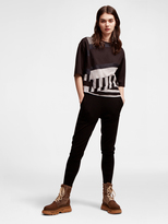 DKNY Pure Mixed Media Cropped Tee