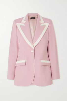Dolce & Gabbana Piped Wool-blend Blazer - Pink