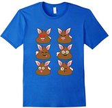 Men's FUNNY EASTER POOP EMOJI T-SHIRT Easter Bunny Large