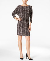 Nine West Printed Blouson Sheath Dress