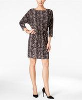 Nine West Printed Blouson Sheath Dress