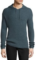 John Varvatos Waffle-Knit Pullover Hoodie, Dusty Blue