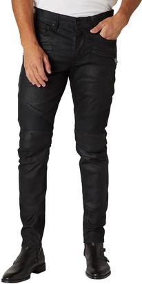 Hudson Men's The Blinder V2 Skinny Leather Biker Jeans