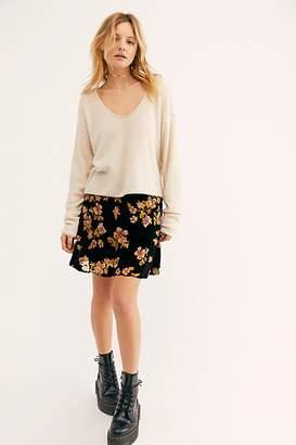 Free People Margaux Velvet Mini Skirt
