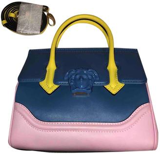 Versace Palazzo Empire Blue Leather Handbags