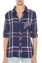 Rails Hunter Plaid Shirt in Navy/White/Orchid
