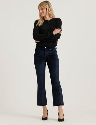 Lucky Brand Mid Rise Ava Crop Mini Boot Velvet Jean