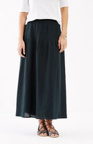 J. Jill Linen Pintucked Maxi Skirt
