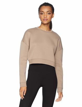 Core Products Amazon Brand - Core 10 Women's Motion Tech Fleece Cropped Sweatshirt