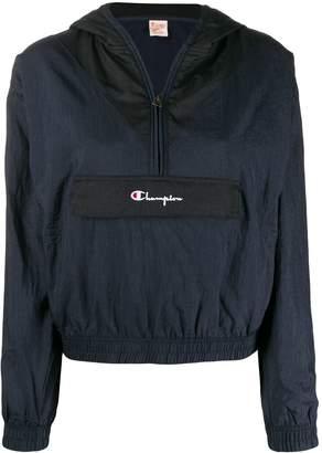 Champion logo zipped windbreaker jacket