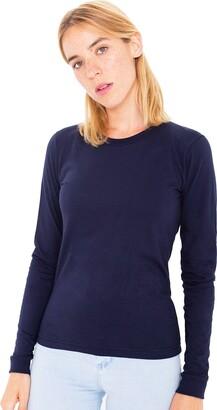 Elegance1234 Elegance Women`s Plain Long Sleeve T-Shirt Crew Neck Tops(2214) (XL