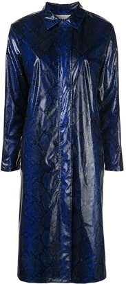Apparis Cassundra snakeskin-print coat