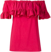 Hache ruffled blouse - women - Cotton/Spandex/Elastane - 40