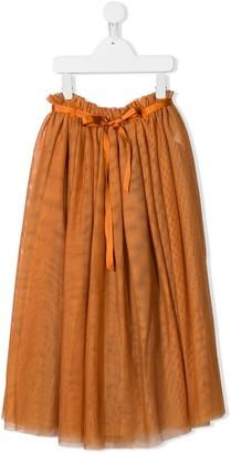 Anja Schwerbrock Kids Belted Tulle Midi Skirt