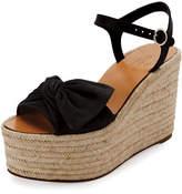 Valentino Garavani Tropical Bow Espadrille Wedge Sandal