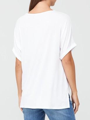 Very Roll Sleeve Tunic - White