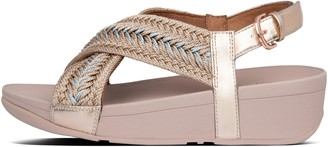 FitFlop Mallory Metallic-Weave Back-Strap Sandals