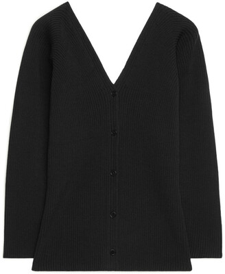 Arket Deep V-Neck Cardigan