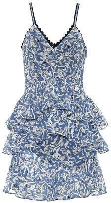 Victoria Victoria Beckham Ruffled printed minidress