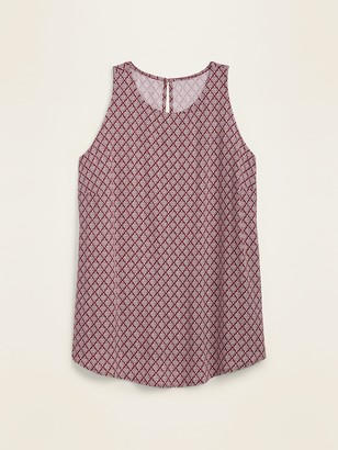 Old Navy High-Neck Printed Sleeveless Plus-Size Swing Top