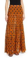Johanna Ortiz Vase Print A-Line Maxi Skirt