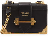 Prada Cahier Small Leather Trunk Crossbody Bag