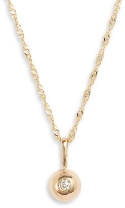 Poppy Finch Diamond Dome Pendant Necklace