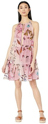 Stella McCartney Trippy Floral Short Dress (Pink) Women's Dress