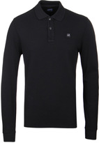 Cp Company Black Long Sleeve Regular Fit Polo Shirt