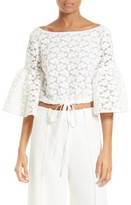 Milly Women's Lydia Floral Embroidered Top