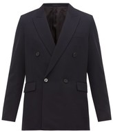 The Row Colin Double-breasted Suit Jacket - Mens - Navy