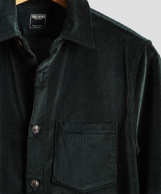 Todd Snyder Made in New York Corduroy Shirt Jacket in Emerald