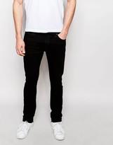 Nudie Jeans Tube Tom Skinny Fit Organic Black