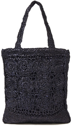 Antik Batik Holy Oversized Crocheted Raffia Tote