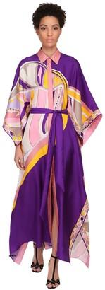 Emilio Pucci Printed Silk Twill Shirt Dress