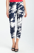 Vince Camuto 'Abstract Leaf' Crop Pants