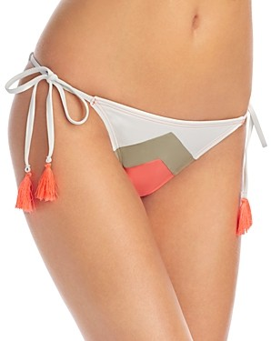 Vince Camuto Camellia Chevron Stripe String Side Tie Bikini Bottom
