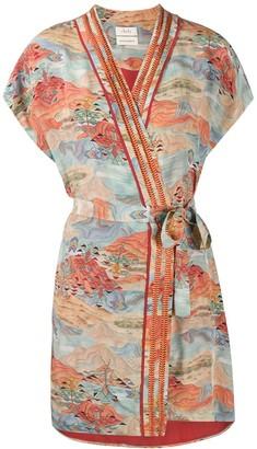 CHUFY Amaru short wrap dress