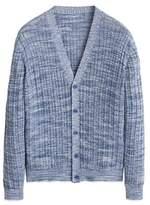 Flecked knit cotton cardigan