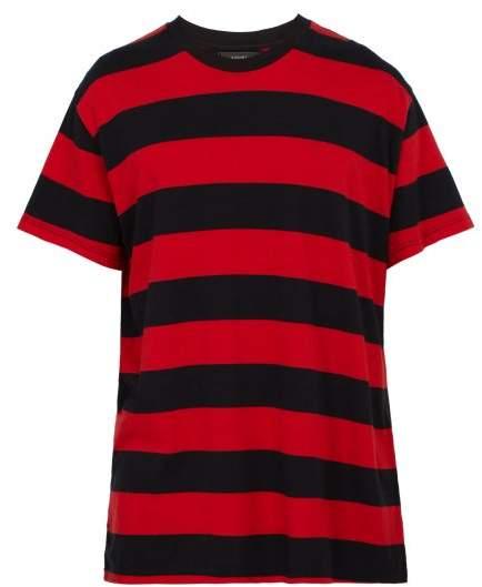 Amiri Striped Cotton T Shirt - Mens - Black