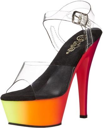 Pleaser USA Women's Rbow208uv/C/Nmc Platform Dress Sandal