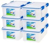 Iris Ziploc WeatherShield 16 Qt Storage Box - 6 Pack