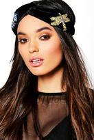 Boohoo Saskia Embellished Velvet Headband