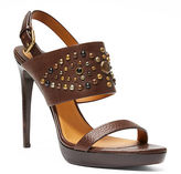 Ralph Lauren Jetta Studded Leather Sandal
