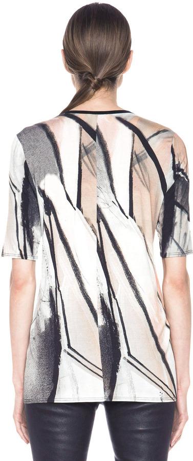 Helmut Lang Print Jersey Tee in Flesh