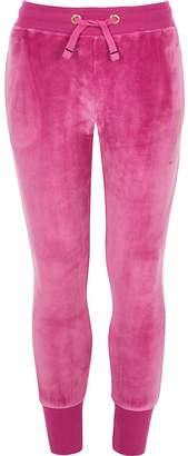 River Island Girls Juicy Couture pink velour joggers