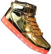 Tricandide Men and Women High Top USB Charging LED Sport Shoes Flashing Sneakers EU 37